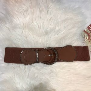 Embellished Brown Fashion Waist Belt